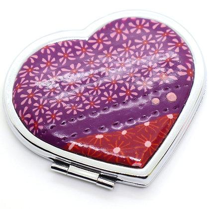 Miroir de poche Cœur