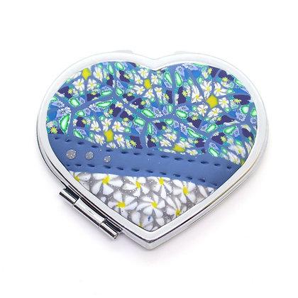 Miroir de poche - Coeur
