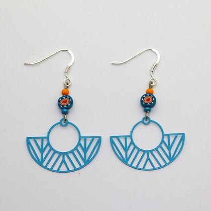 Boucles d'oreilles - estampes ajourées (attaches en argent)