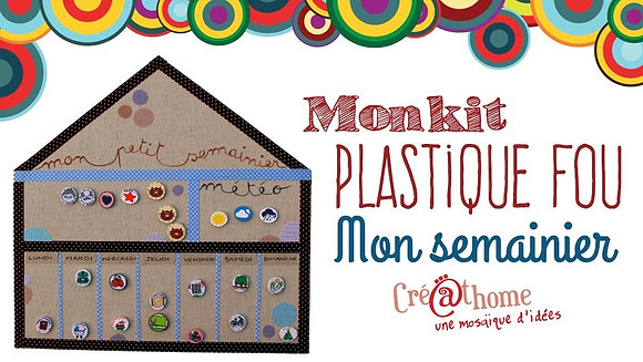 Kit plastique fou Semainier - violet