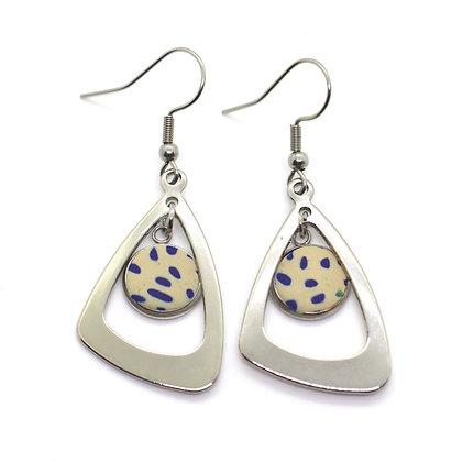 Boucles d'oreilles - triangle métal