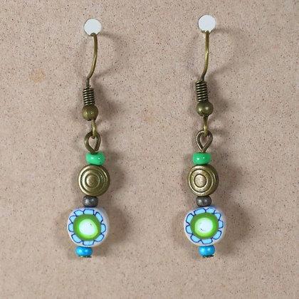 Boucles d'oreilles - petite perle