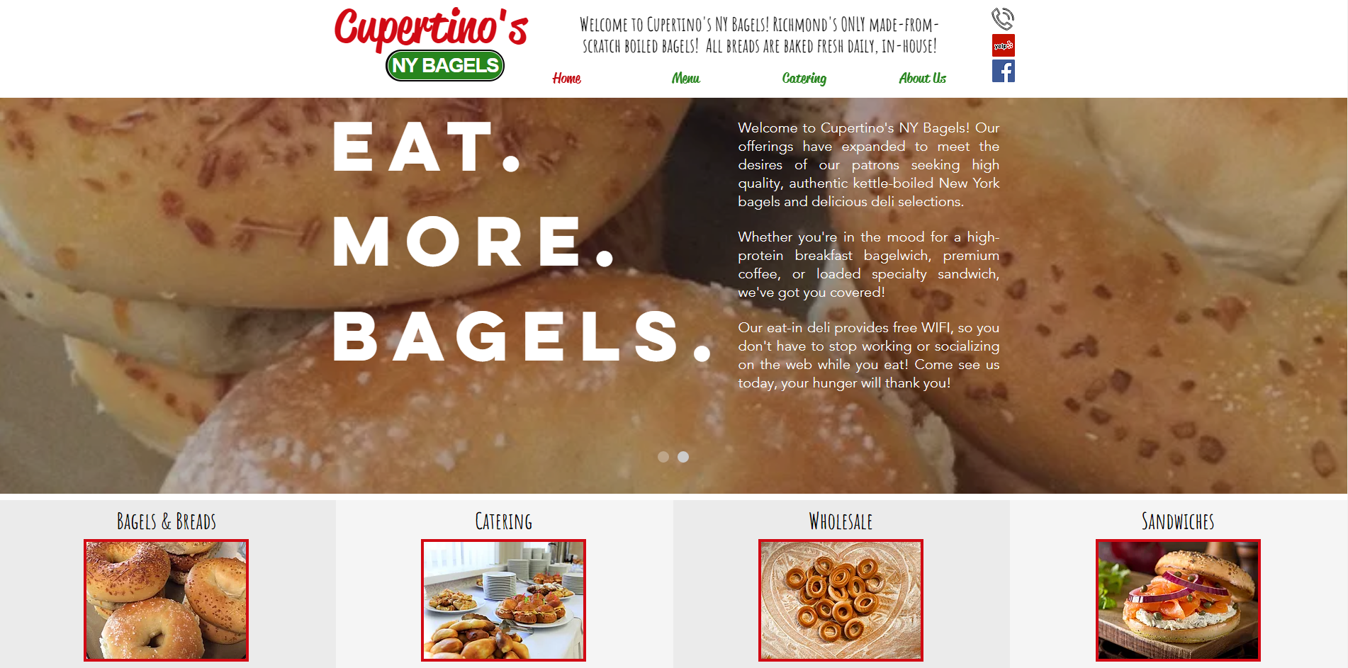 Cupertino's NY Bagels Website