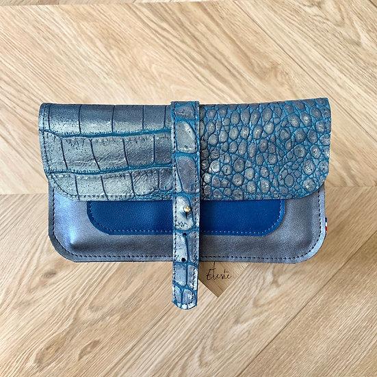 PORTE-CHÉQUIER Python bleu
