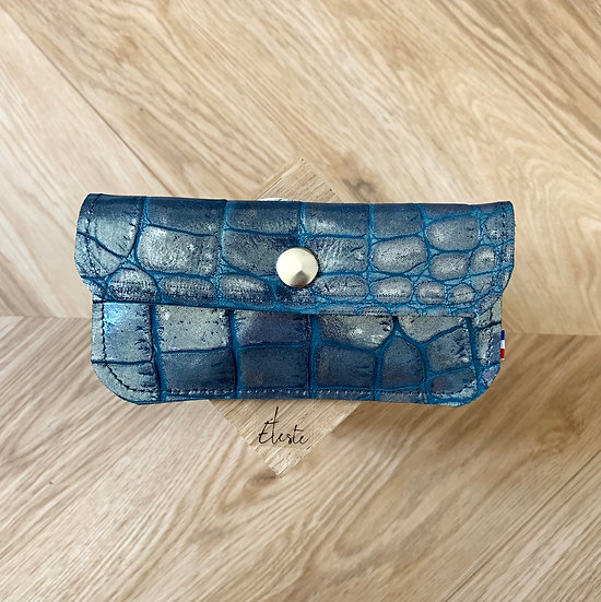 PORTE-MONNAIE Python bleu