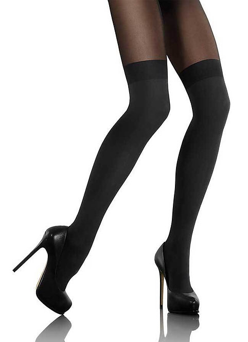 Mock Over The Knee 60 Denier Black Hosiery Tights