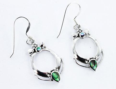 LUXURY Abalone detailed earrings 925 STERLING SILVER