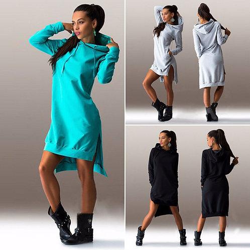 Hooded Jumper Mini Dress