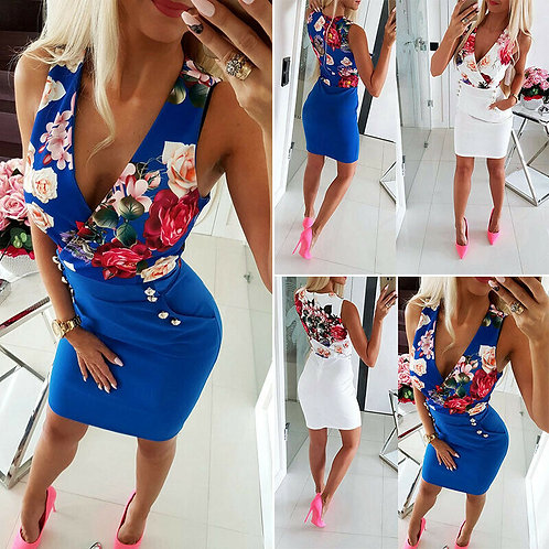 Floral Bodycon Casual / Evening Mini Dress