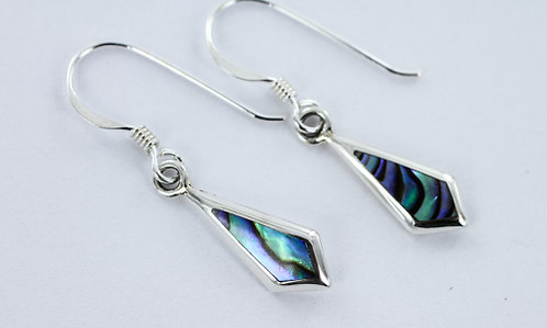LUXURY Diamond drop abalone earrings 925 STERLING SILVER
