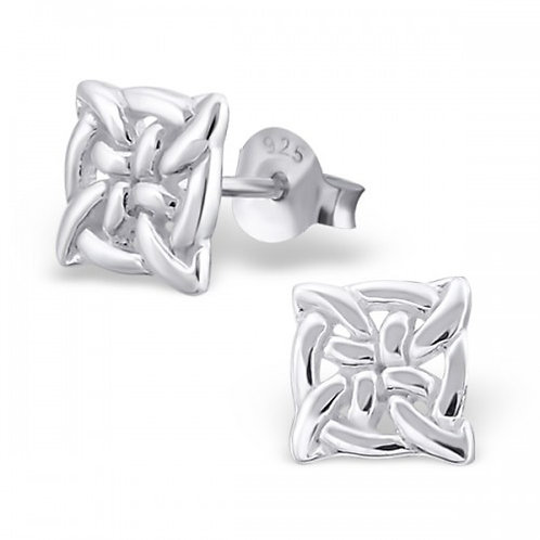 Sign - 925 Sterling Silver Plain Ear Studs