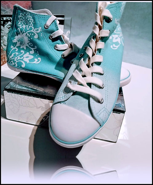 ORIGINAL FAB TRAINERS SHOES IN OMBRE TURQUOISE - SIZE UK 4-7