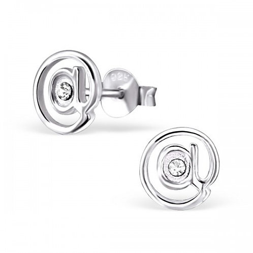 @ Sign - 925 Sterling Silver Crystal Ear Studs