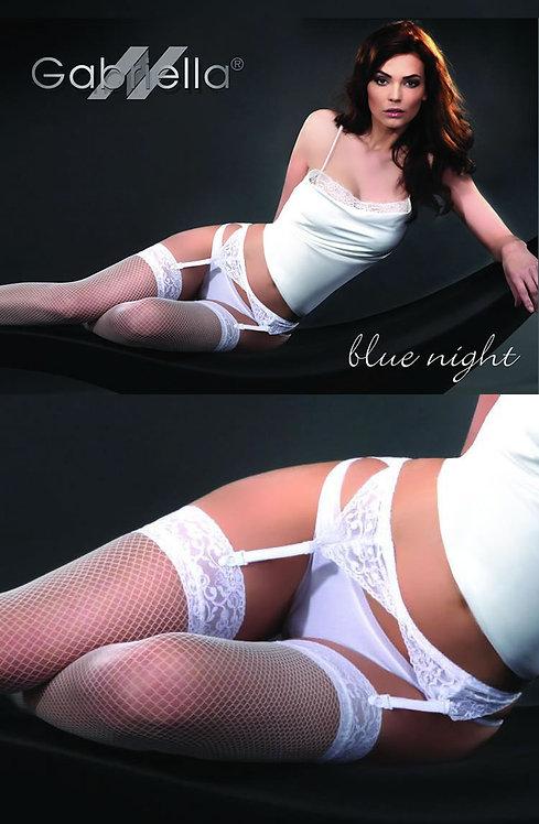 Gabriella Calze Blue Night 219 Hold Ups Bianco