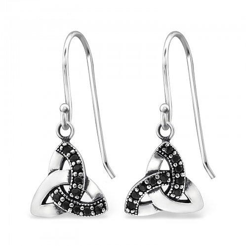 Celtic - 925 Sterling Silver Cubic Zirconia Earrings