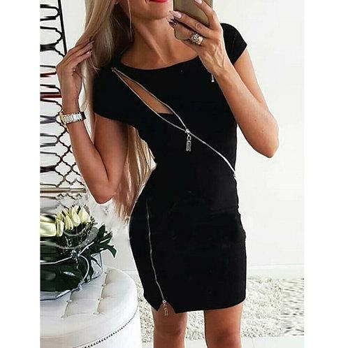 Slim Bodycon Dress with Zipp Details
