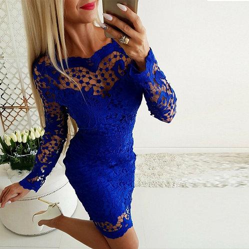 Slim Bodycon Dress in Royal Blue