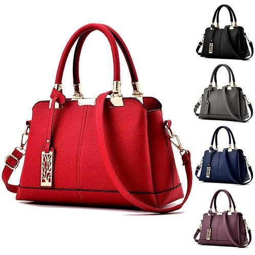Leather Briefcase Shoulder Tote Bag