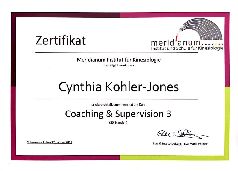 Coaching & Supervision 3
