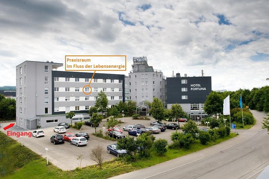 Imfussderlebensenergie Praxis Hotel Fortuna Tübingen Reutlingen