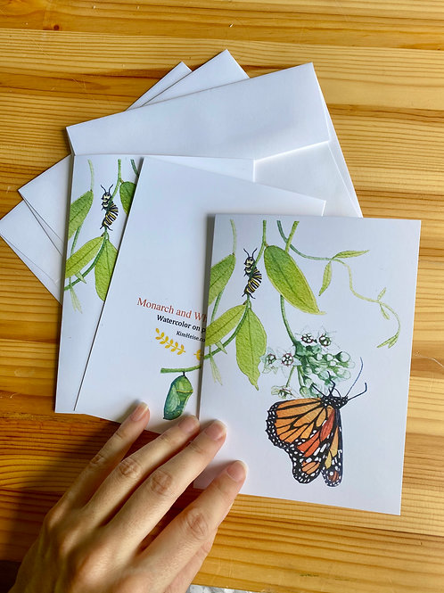 Monarch Stationary Cards