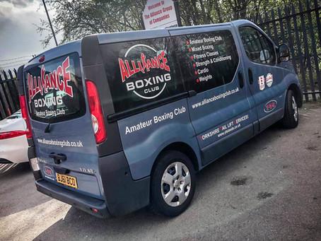Alliance Boxing Club Mini Bus
