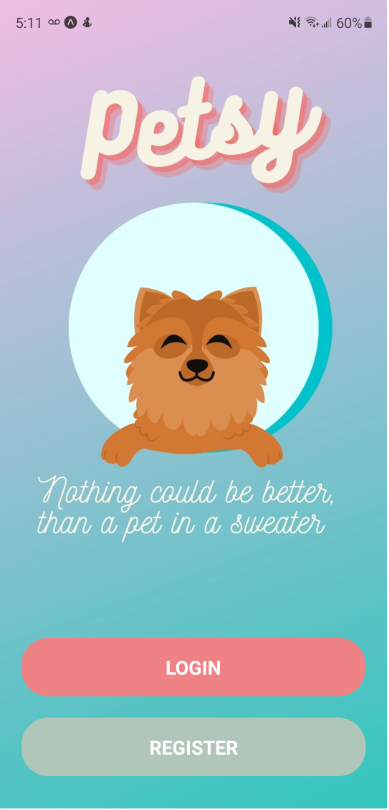Petsy Home Page