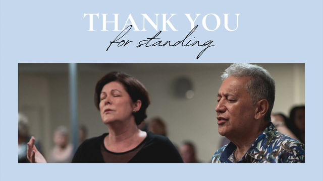 Thank you for standing