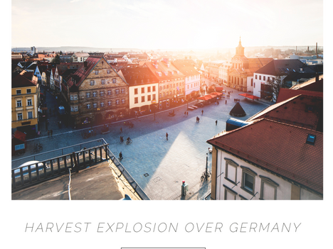 Harvest explosion over Germany