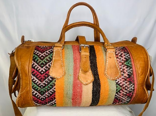 Moroccan Duffel Bag - Tall Lines