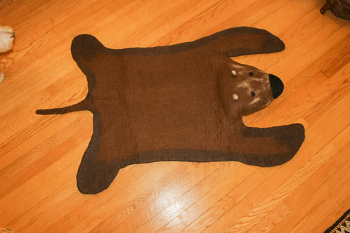 Felted Bear Rug
