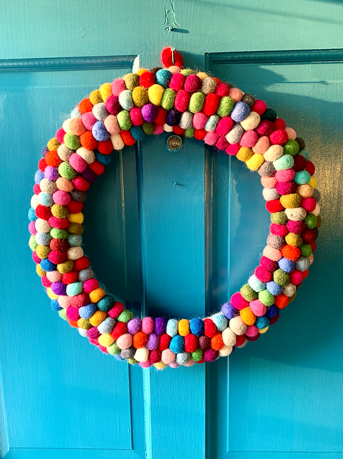 Large Multi Ball Wreath