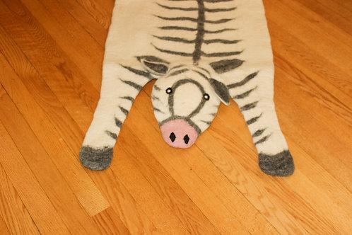 Felted Zebra Rug