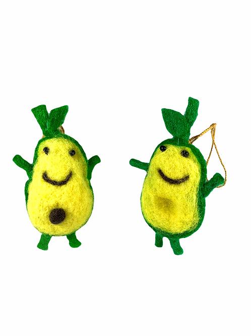 Avocado Ornament Set