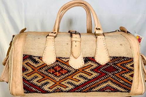 Moroccan Duffel Bag - White Sands