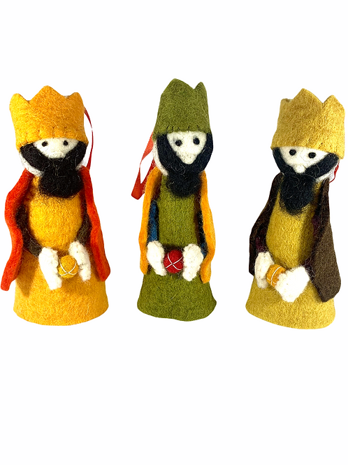 Three Wise Men Ornament Set