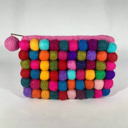 One Sided Felt Ball Coin Purse