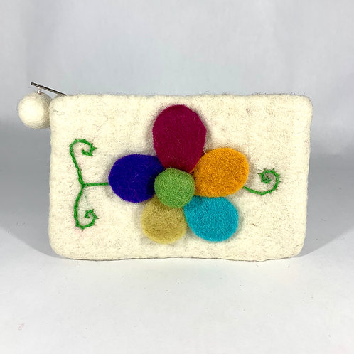 Multi-colored Petal Coin Purse