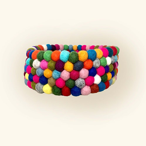 Felt Bowl: Multi-colored
