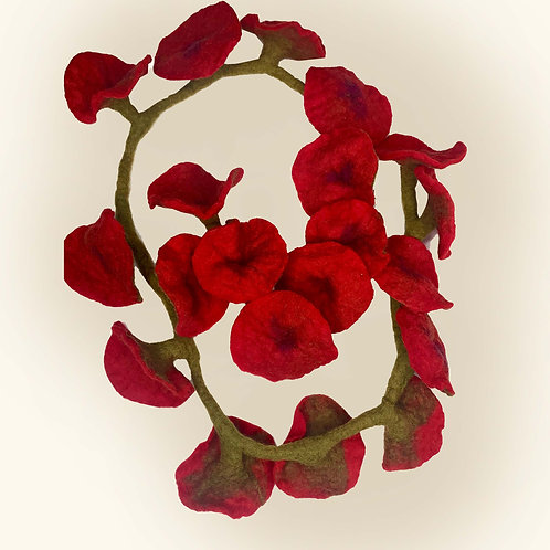 Poppy Garland - Red