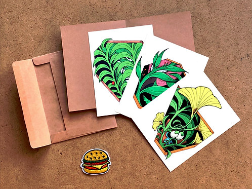 Window Plant Series Postcard Set