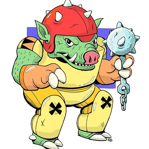 8.5x11 Creature Crew: Hog (#2)