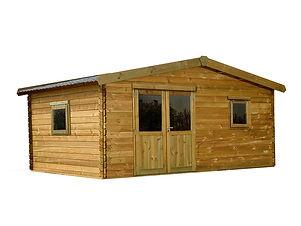 caseta de madera grande económica