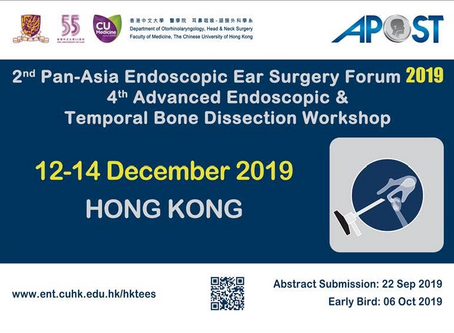 Events Outside HKNS: 2nd Pan-Asia Endoscopic Ear Surgery Forum 2019