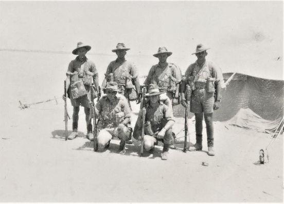 March 1941 Unit members Camp at Ikinqi M