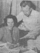 Ken & Muriel looking at sketches
