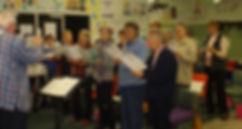 The Jubilee Singers practising