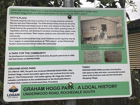 Sign in Graham Hogg Park