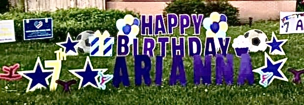 dark blue/purple set, homemade letters