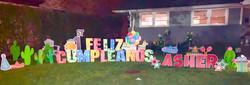 Feliz Cumpleaños set, red letters